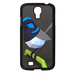 Animals Bird Green Ngray Black White Blue Samsung Galaxy S4 I9500/ I9505 Case (black) by Alisyart