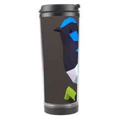 Animals Bird Green Ngray Black White Blue Travel Tumbler by Alisyart