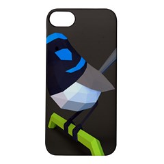Animals Bird Green Ngray Black White Blue Apple Iphone 5s/ Se Hardshell Case