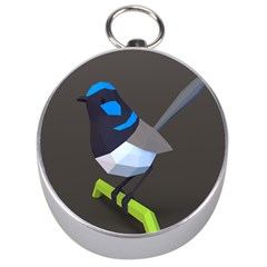 Animals Bird Green Ngray Black White Blue Silver Compasses