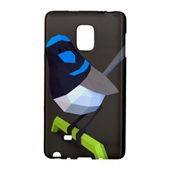 Animals Bird Green Ngray Black White Blue Galaxy Note Edge by Alisyart