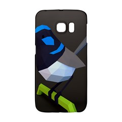 Animals Bird Green Ngray Black White Blue Galaxy S6 Edge by Alisyart
