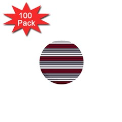 Fabric Line Red Grey White Wave 1  Mini Buttons (100 Pack)  by Alisyart