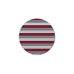 Fabric Line Red Grey White Wave Golf Ball Marker by Alisyart