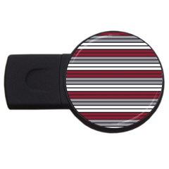 Fabric Line Red Grey White Wave Usb Flash Drive Round (2 Gb) by Alisyart