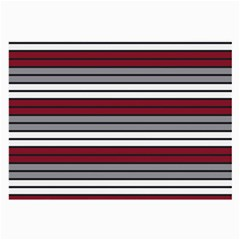 Fabric Line Red Grey White Wave Large Glasses Cloth (2 Side)
