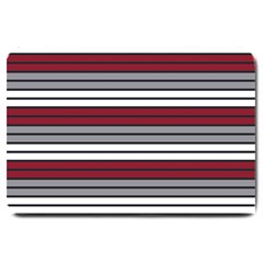 Fabric Line Red Grey White Wave Large Doormat