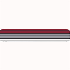 Fabric Line Red Grey White Wave Small Bar Mats by Alisyart