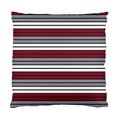 Fabric Line Red Grey White Wave Standard Cushion Case (two Sides) by Alisyart