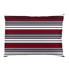Fabric Line Red Grey White Wave Pillow Case by Alisyart