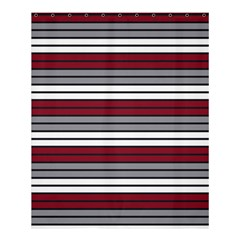 Fabric Line Red Grey White Wave Shower Curtain 60  X 72  (medium)  by Alisyart