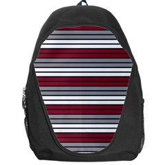 Fabric Line Red Grey White Wave Backpack Bag by Alisyart