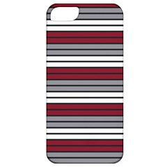 Fabric Line Red Grey White Wave Apple Iphone 5 Classic Hardshell Case