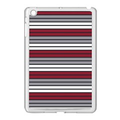 Fabric Line Red Grey White Wave Apple Ipad Mini Case (white) by Alisyart