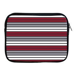 Fabric Line Red Grey White Wave Apple Ipad 2/3/4 Zipper Cases by Alisyart