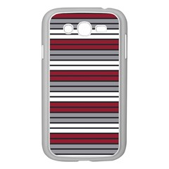 Fabric Line Red Grey White Wave Samsung Galaxy Grand Duos I9082 Case (white) by Alisyart