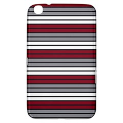 Fabric Line Red Grey White Wave Samsung Galaxy Tab 3 (8 ) T3100 Hardshell Case