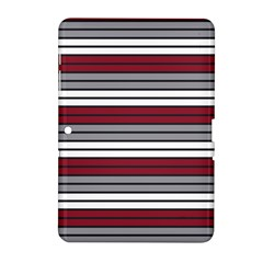 Fabric Line Red Grey White Wave Samsung Galaxy Tab 2 (10 1 ) P5100 Hardshell Case  by Alisyart