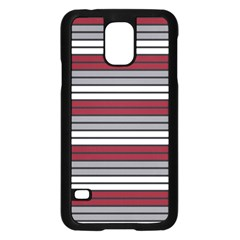 Fabric Line Red Grey White Wave Samsung Galaxy S5 Case (black) by Alisyart