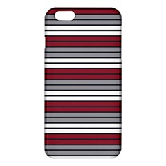 Fabric Line Red Grey White Wave Iphone 6 Plus/6s Plus Tpu Case by Alisyart
