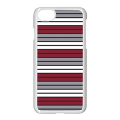 Fabric Line Red Grey White Wave Apple Iphone 7 Seamless Case (white) by Alisyart