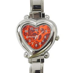 Enlarge Orange Purple Heart Italian Charm Watch by Alisyart