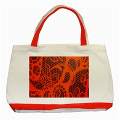 Enlarge Orange Purple Classic Tote Bag (red) by Alisyart
