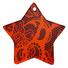 Enlarge Orange Purple Star Ornament (two Sides)