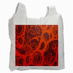 Enlarge Orange Purple Recycle Bag (one Side)