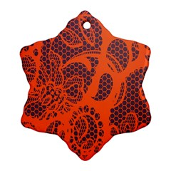 Enlarge Orange Purple Ornament (snowflake)