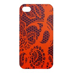 Enlarge Orange Purple Apple Iphone 4/4s Premium Hardshell Case by Alisyart