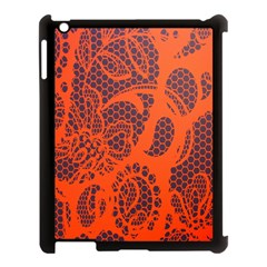 Enlarge Orange Purple Apple Ipad 3/4 Case (black) by Alisyart