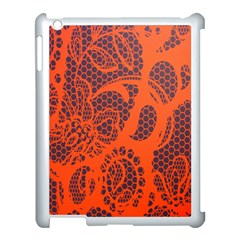 Enlarge Orange Purple Apple Ipad 3/4 Case (white) by Alisyart