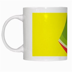 Fruit Melon Sweet Yellow Green White Red White Mugs by Alisyart