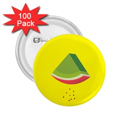 Fruit Melon Sweet Yellow Green White Red 2 25  Buttons (100 Pack)  by Alisyart