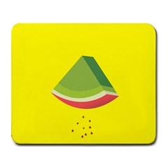 Fruit Melon Sweet Yellow Green White Red Large Mousepads by Alisyart