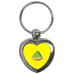 Fruit Melon Sweet Yellow Green White Red Key Chains (heart)  by Alisyart