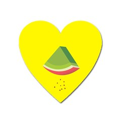 Fruit Melon Sweet Yellow Green White Red Heart Magnet by Alisyart