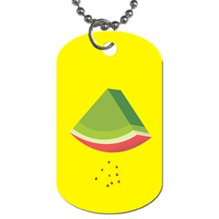 Fruit Melon Sweet Yellow Green White Red Dog Tag (one Side) by Alisyart