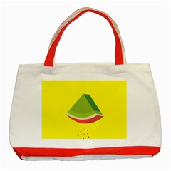 Fruit Melon Sweet Yellow Green White Red Classic Tote Bag (red) by Alisyart