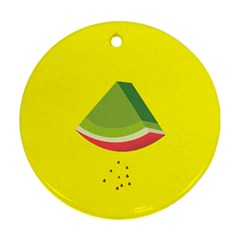 Fruit Melon Sweet Yellow Green White Red Round Ornament (two Sides) by Alisyart