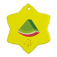Fruit Melon Sweet Yellow Green White Red Snowflake Ornament (two Sides) by Alisyart