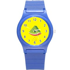 Fruit Melon Sweet Yellow Green White Red Round Plastic Sport Watch (s) by Alisyart
