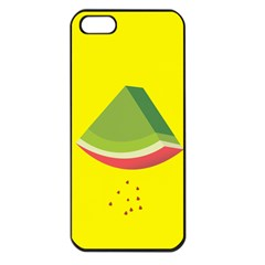 Fruit Melon Sweet Yellow Green White Red Apple Iphone 5 Seamless Case (black)