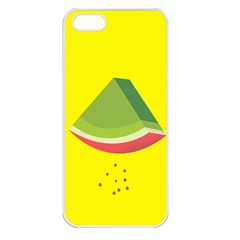 Fruit Melon Sweet Yellow Green White Red Apple Iphone 5 Seamless Case (white) by Alisyart