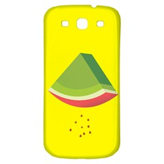 Fruit Melon Sweet Yellow Green White Red Samsung Galaxy S3 S Iii Classic Hardshell Back Case
