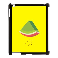 Fruit Melon Sweet Yellow Green White Red Apple Ipad 3/4 Case (black) by Alisyart