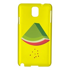 Fruit Melon Sweet Yellow Green White Red Samsung Galaxy Note 3 N9005 Hardshell Case by Alisyart