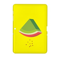 Fruit Melon Sweet Yellow Green White Red Samsung Galaxy Tab 2 (10 1 ) P5100 Hardshell Case  by Alisyart