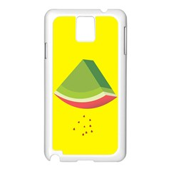 Fruit Melon Sweet Yellow Green White Red Samsung Galaxy Note 3 N9005 Case (white) by Alisyart